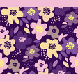 luxury floral seamless pattern vector image vector image