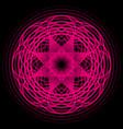 magenta abstract shape vector image vector image
