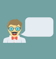 man is laughing fun concept flat design vector image