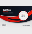 modern business style red theme brochure design vector image vector image