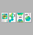 modern holographic flow abstract covers vector image