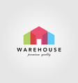 modern warehouse barn building colorful logo vector image vector image
