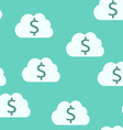 Money clouds seamless pattern vector image