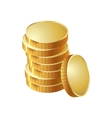 money coin pile of gold vector image