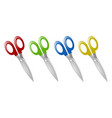 pairs of scissors in four colors vector image