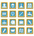 plumber symbols icons set sapphirine square vector image vector image