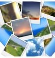 Polaroid photos abstract background vector image vector image