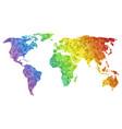 polygonal world map vector image vector image