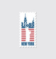 postage stamp with statue liberty vector image vector image