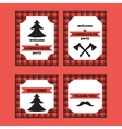 Printable set of vintage Lumberjack invitation and vector image