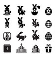 rabbit bunny easter icon vector image