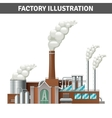 Realistic Factory vector image vector image