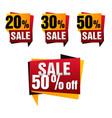 sale paper banner set sale background big vector image
