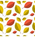 Seamless autumn leafs pattern vector image vector image