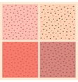 Seamless pattern set with little hearts vector image vector image