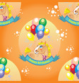 seamless pattern with pony and balloons vector image vector image