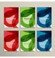 Set abstract color circle pattern vector image