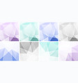 set light colorful geometric backgrounds vector image vector image
