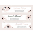 set of floral labels vector image