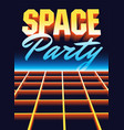 space disco party vintage poster design vector image vector image