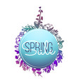 spring banners sale template with doodle pink vector image