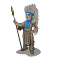 statuette leader a tribe indians vector image