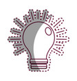 sticker power light bulb on vector image vector image