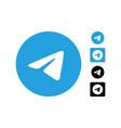 telegram editorial logo set vector image