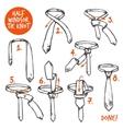 Tie Knot Sketch vector image