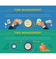 Tme Management Concept 2 Banners Set vector image vector image
