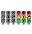 traffic lights for running pedestrians vector image