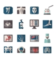 Ultrasound X-ray Icons Flat vector image