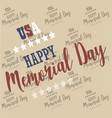 usa memorial day pattern background vector image vector image