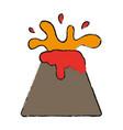 volcano icon image vector image vector image