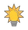 yellow bulb icon vector image vector image