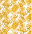 yellow seamless palm pattern fabric interior vector image