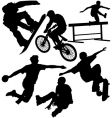 sports silhouettes vector image