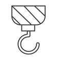 construction crane line icon sign vector image