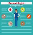 future profession dermatologist infographic vector image