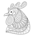 Zentangle Cartoon rooster vector image