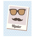 HipsterCard vector image