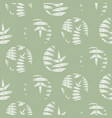 fern mint green leaves circles seamless vector image