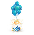 45th years celebrations greetings forty five vector image vector image