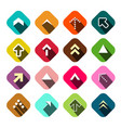 arrows set flat arrow icons vector image