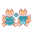 baby toy fox isolated picture vector image vector image