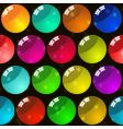 background with glass multicolor balls vector image