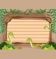 banner template with snakes in jungle