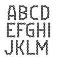 Bicycle chain alphabet vector image vector image