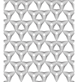 Black and white abstract geometric seamless patter vector image vector image