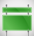 Blank green metal boards vector image